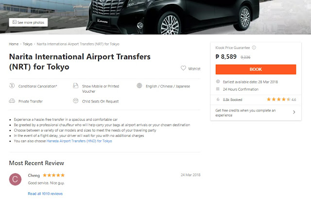 narita international airport transfers