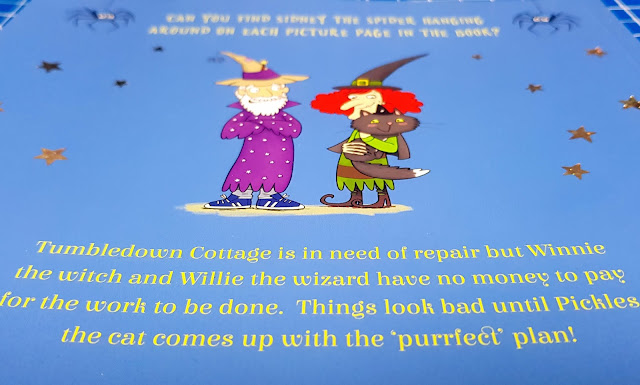 Pickles' Purrfect Plan by Carolyn Young back cover art and blurb