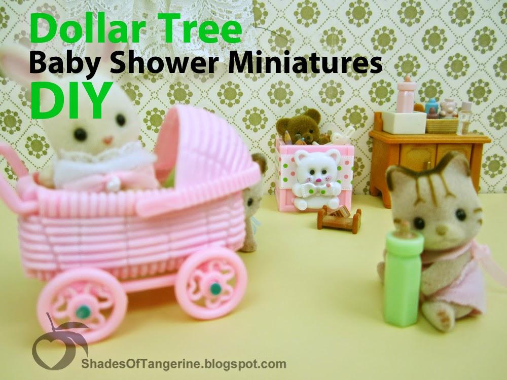 Shades Of Tangerine: Dollar Tree Baby Shower Miniatures (DIY)