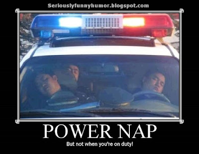 Power nap cops - But not when you're on duty!