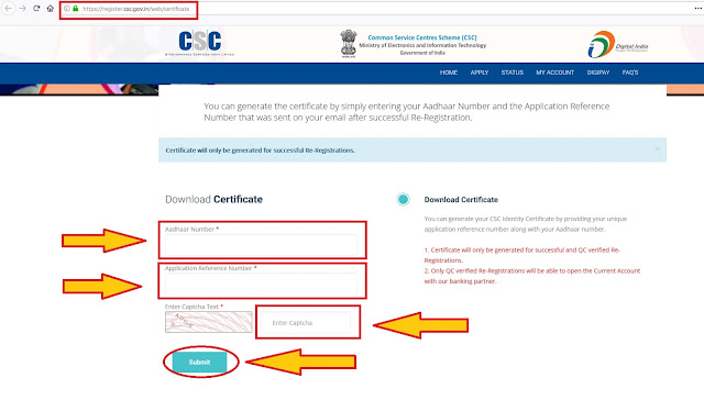 VLE DOWNLOAD CSC CERTIFICATE - LATEST UPDATE 2019 (COMING