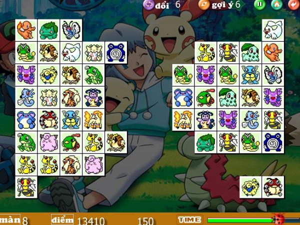Game Pikachu Kawai 2003, 2004, 2005 - Xếp thú Pokemon c