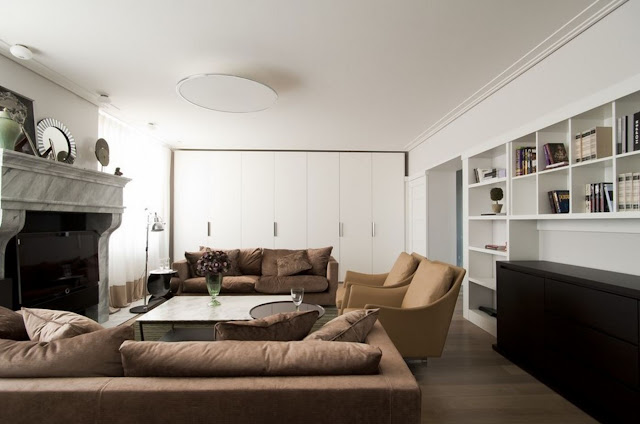 Современный интерьер квартиры в Москве от Галины Микулик