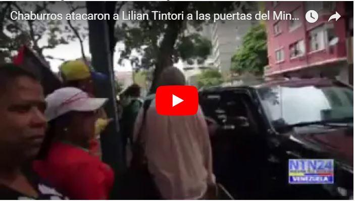 Chaburros atacaron a Lilian Tintori a las puertas del Ministerio Público