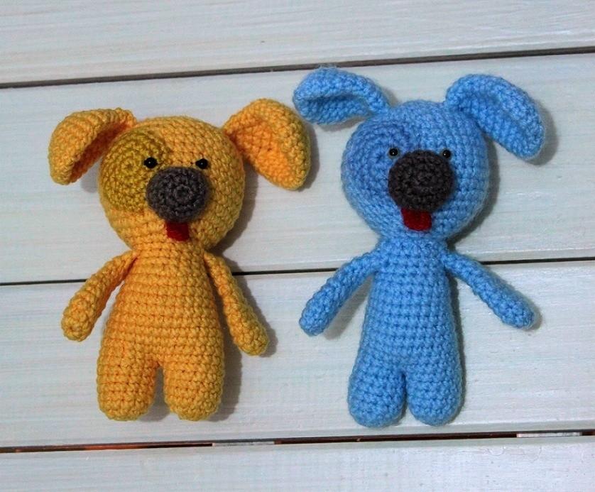 Вязаные игрушки собачки амигуруми