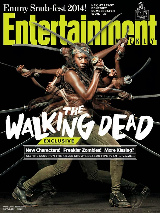 Portada de EW dedicada a Michonne y la 5ª temporada de The Walking Dead