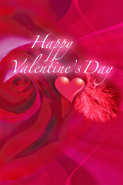 free wallpapers for Apple iPhone4 download picture love greeting card for Valentine's Day