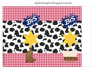 Cowboy o Vaquerito: Etiquetas para Candy Bar para Imprimir Gratis.