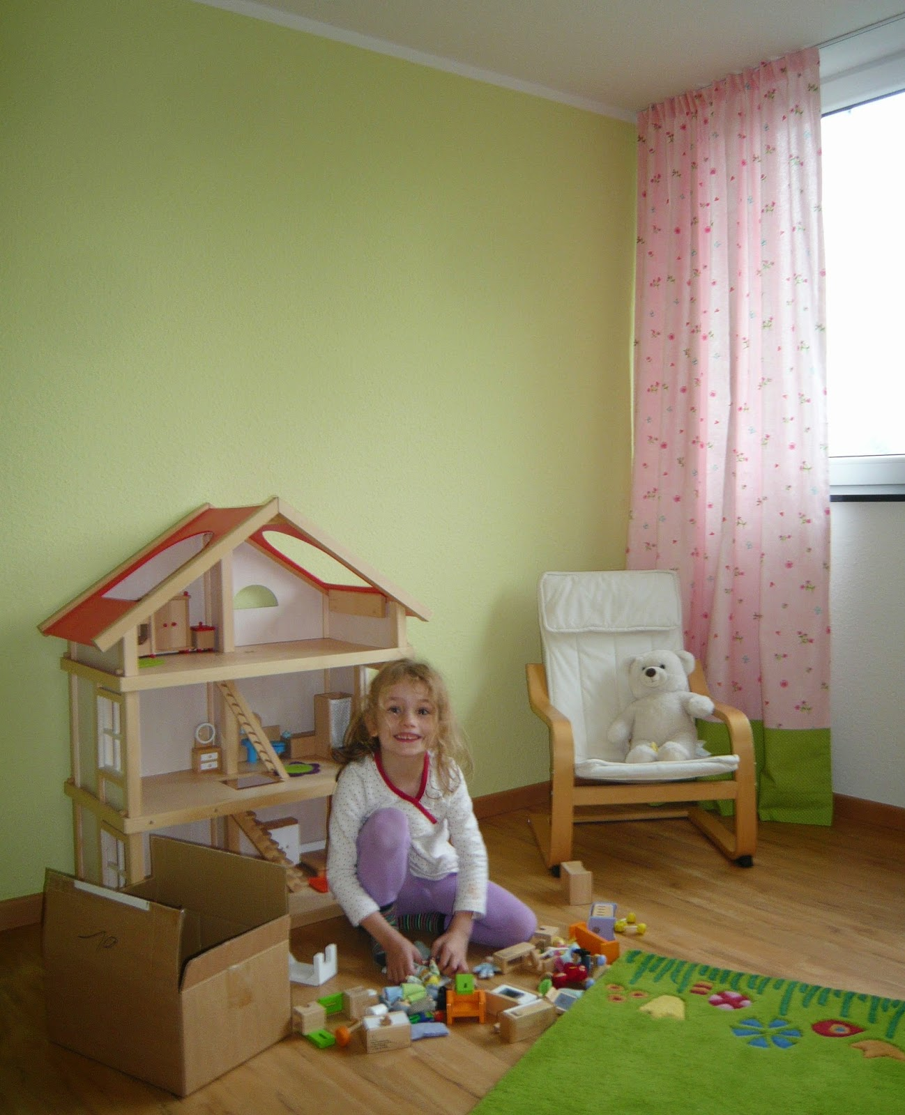 kleines ich by eva und vorh nge f rs kinderzimmer. Black Bedroom Furniture Sets. Home Design Ideas