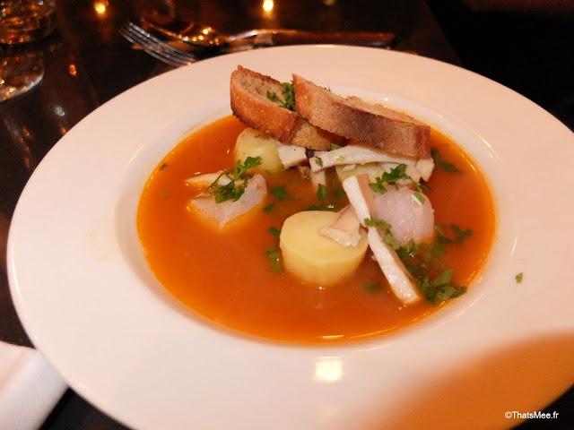 resto le richer paris 9eme entree soupe de poisson rouille seche confite ratte