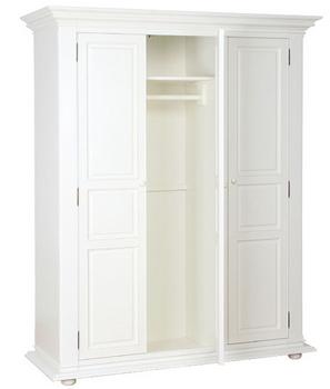 lemari pakaian minimalis duco putih