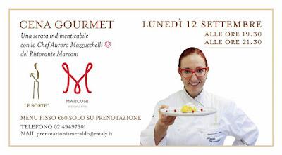 Cene Gourmet 12 settembre  Milano