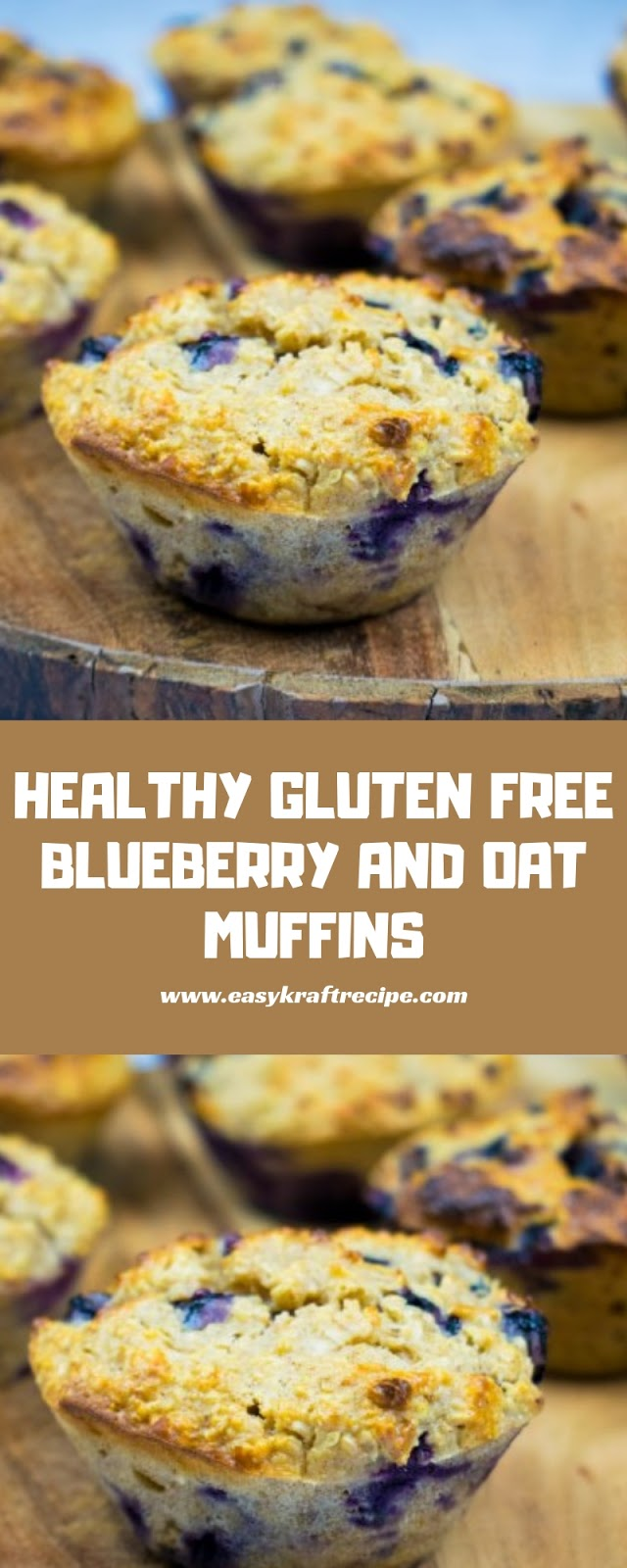 HEALTHY GLUTEN FREE BLUEBERRY AND OAT MUFFINS