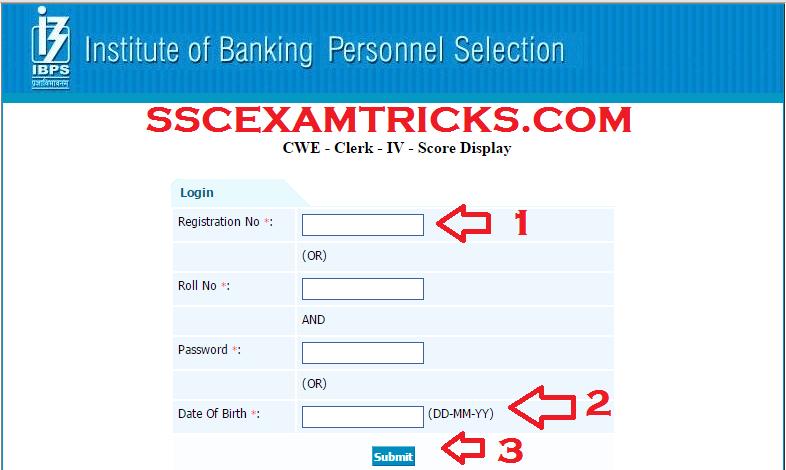 ibps clerk exam result 2014 scorecard