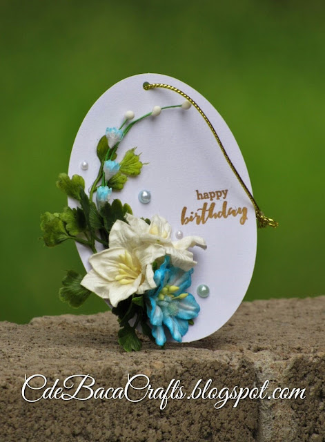 Handmade happy birthday gift tags at CdeBaca Crafts Blog