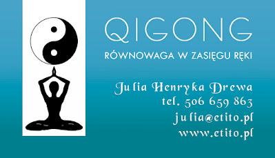 Wizytówki dla Qigong, identyfikacja wizualna, projekt graficzny