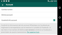 Whatsapp condivide numero e info con Facebook: come impedirlo e che significa?