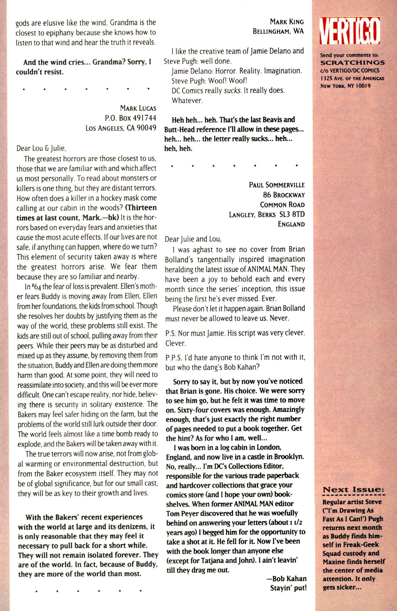 Read online Animal Man (1988) comic -  Issue #71 - 27