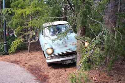 The Weasley's Car inside Wizarding World of Harry Potter in USJ