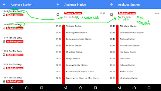 Japan Mobile Tech: Google Maps station departure information is currently broken and inaccurate