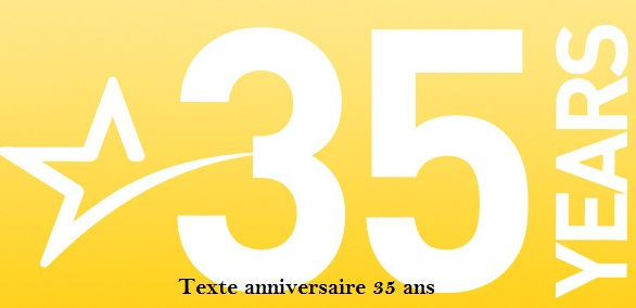 Texte Anniversaire 35 Ans Texte Message Et Poème D
