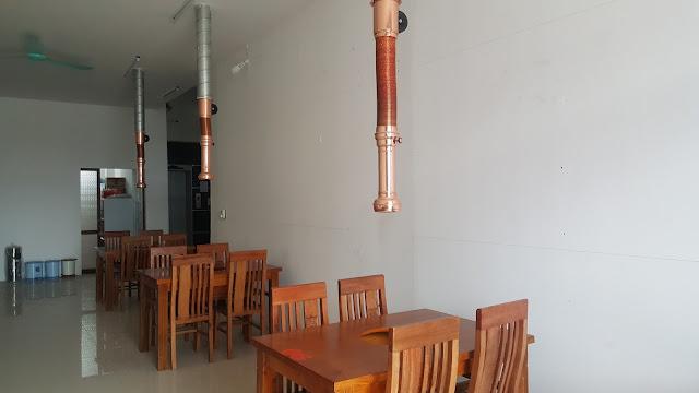hệ thống hút mùi tại bàn cho nhà hàng