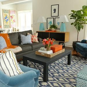 desain ruang tamu colorfull