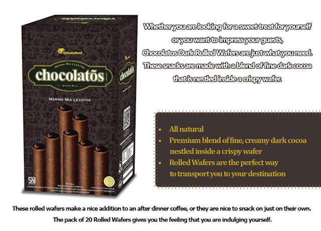 Contoh iklan Chocolatos dalam Bahasa Inggris Chocolatos Dark