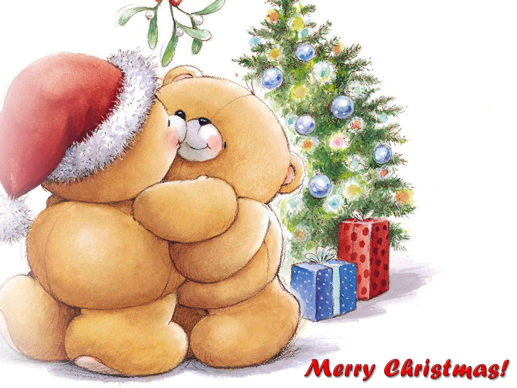 Christmas Teddy Bear Wallpaper: Teddy Bears: Santa Teddy Bears