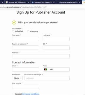 Cara Mendapatkan Dolar Dari Propellerads Alternatif Google Adsense