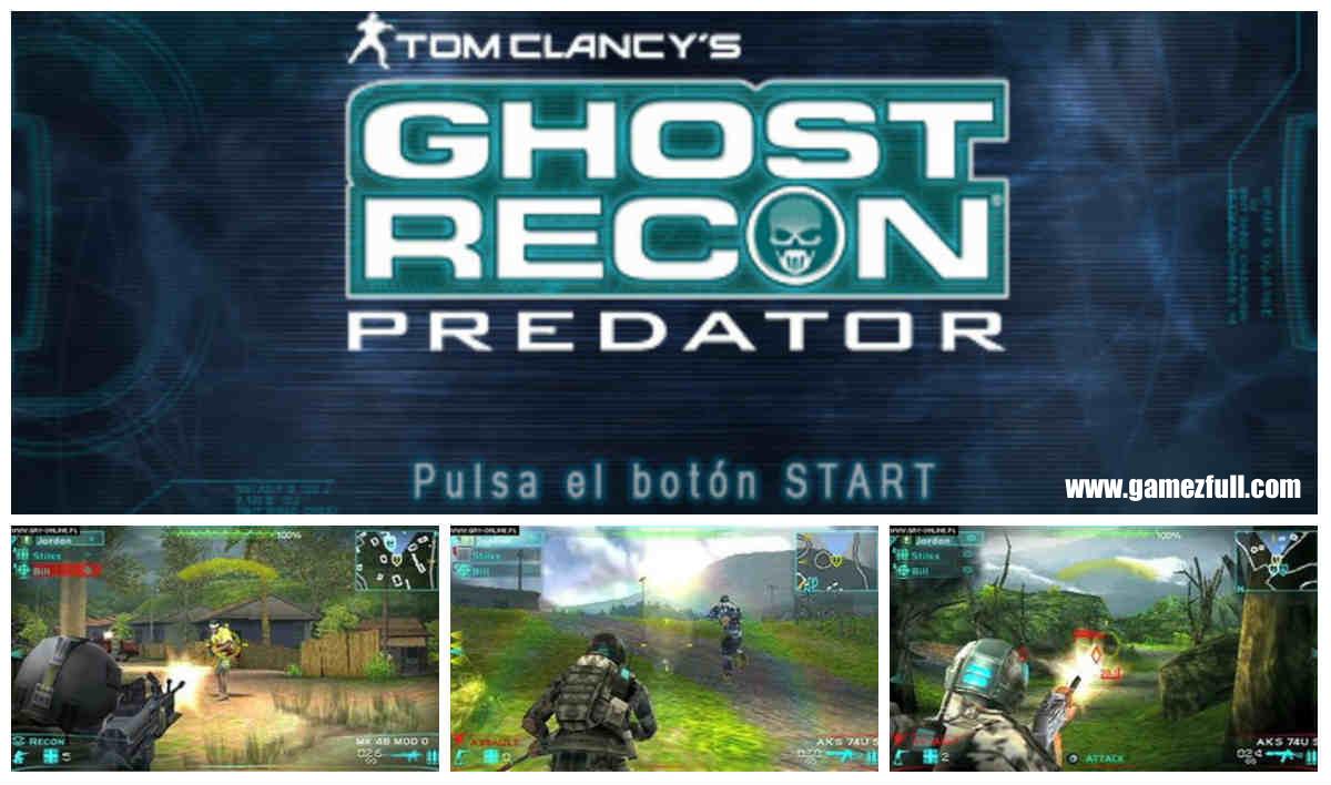 Tom Clancy's Ghost Recon Predator psp español