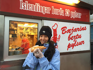 Nothing like an Icelandic hot dog to warm you up!