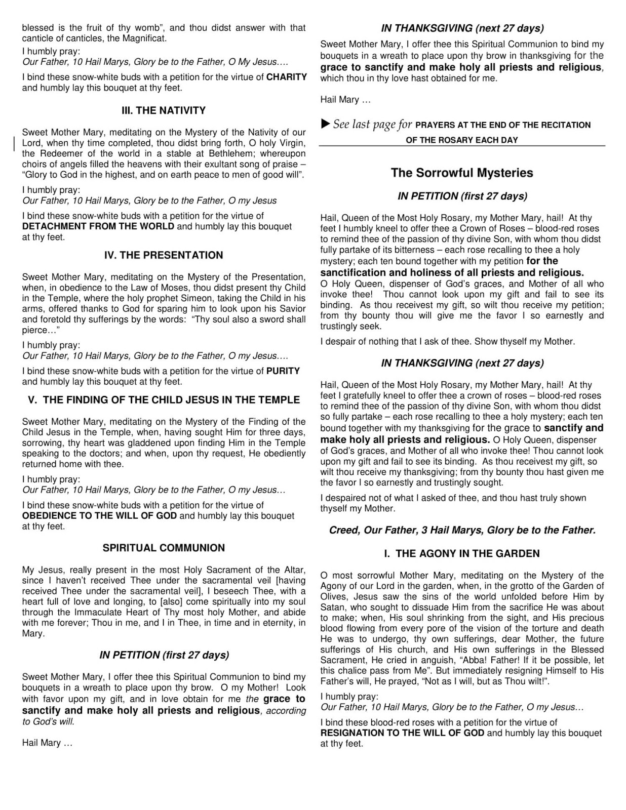 photo regarding 54 Day Rosary Novena Printable known as Refreshing Liturgical Circulation: 54-Working day Rosary Novena for the Clergy