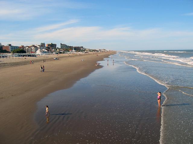 Praia Pinamar na Argentina