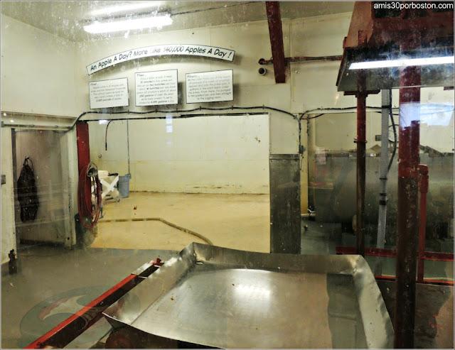 Zona de Producción de la Sidra de Manzana de la Cold Hollow Cider Mill en Vermont
