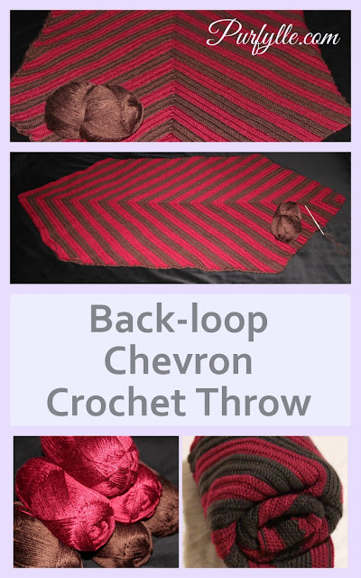 Back-loop Chevron Crochet Throw Rug