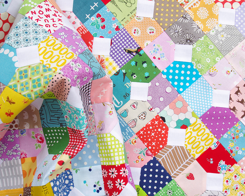 Scrappy Bow Tie Quilt ~ Templates available | Red Pepper Quilts 2016