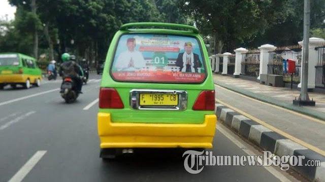 Bawaslu: Stiker Capres-Cawapres di Kaca Angkot Dilarang
