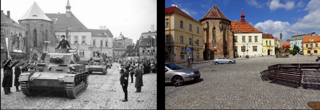 Adolf-Hitler-Platz October 19, 1938 and today