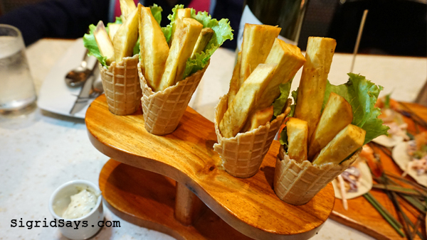 Farm to Table - Iloilo restaurant - kamote fries