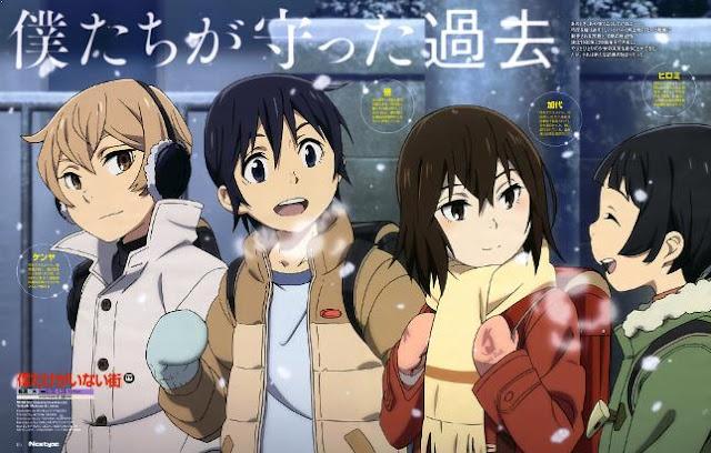 Boku dake ga Inai Machi - Anime Time Travel Terbaik (Melakukan Perjalanan Waktu)