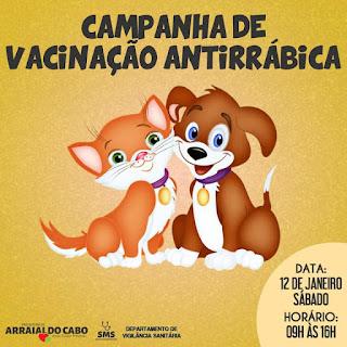ARRAIAL: CAMPANHA DE VACINAÇÃO ANTIRRÁBICA ANIMAL