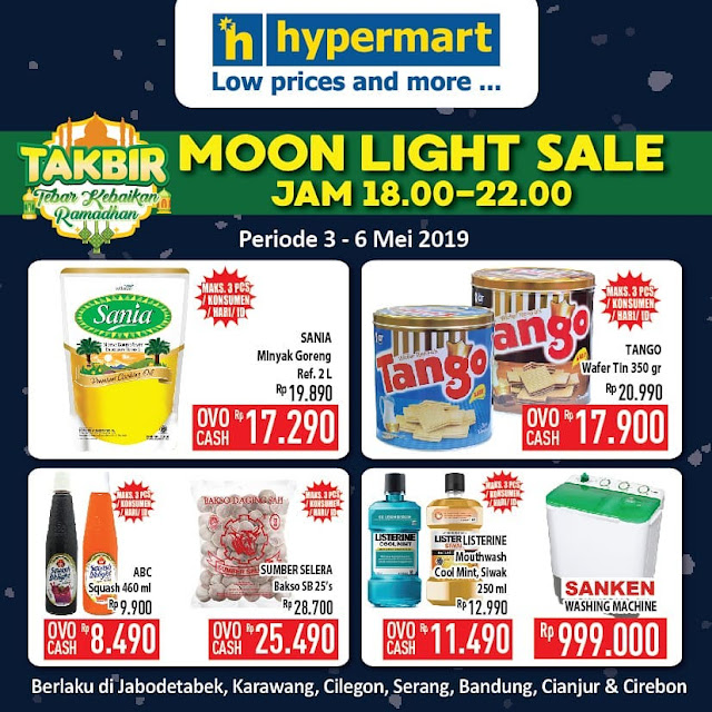 #Hypermart - #Promo Sambut Ramadhan TAKBIR MoonLight Sale (s.d 06 Mei 2019)