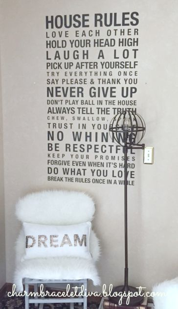 Land of Nod Orbital Floor Lamp DIY with House Rules wall decal