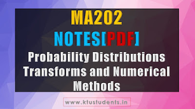 ktu ma202 maths notes pdf modules