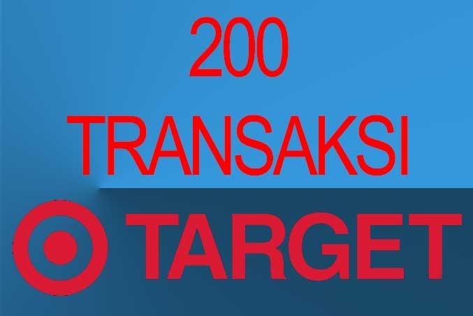 Target transaksi agen brilink