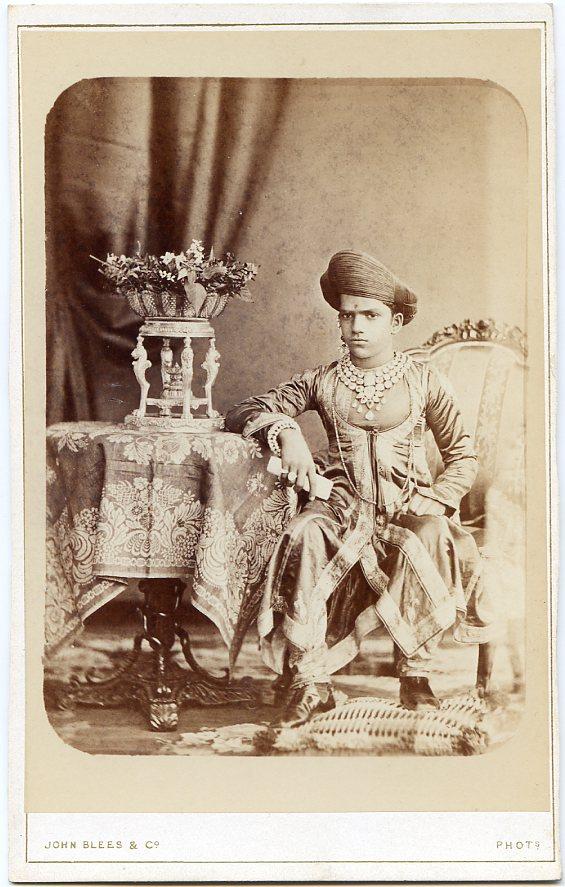 Sayajirao Gaekwad III of Baroda - 1880 cabinet card photo