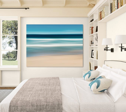 Ocean Wall Art Bedroom Decor Idea