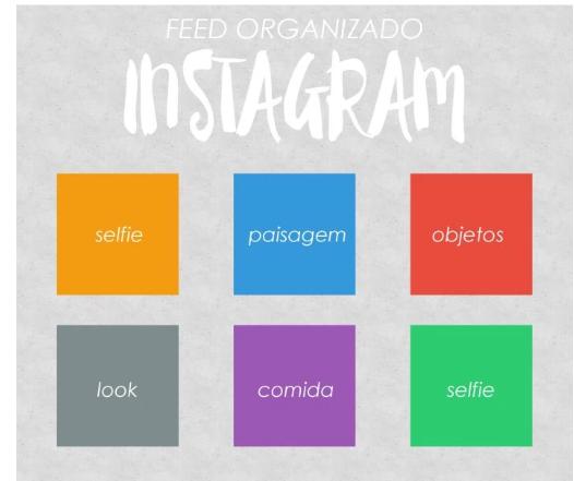 como organizar o feed do Instagram