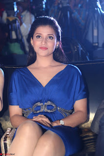 Mannara Chopra in Short Blue Dress at Rogue Movie Teaser Launch 1st March 2017 018.JPG